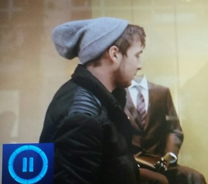 Sam wearing his hat like a Smurf