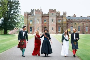 Youth: Scottish twenty-somethings in casual daywear at Scone Palace