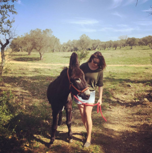 Important to walk your donkey on Easter weekend